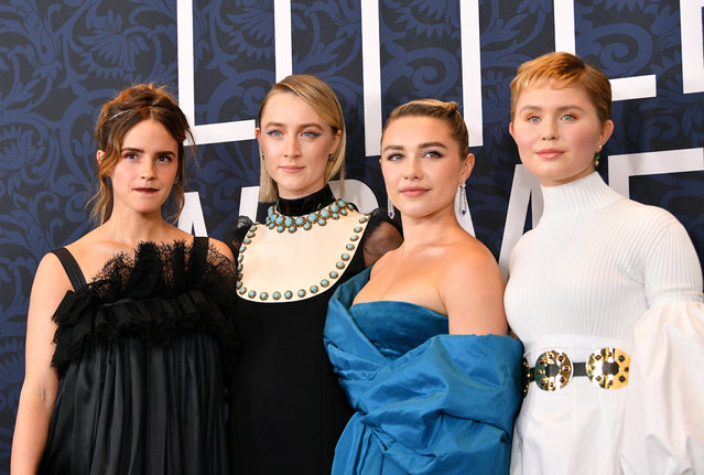 "(L-R) Emma Watson, Saoirse Ronan, Florence Pugh, and Eliza Scanlen attend the ""Little Women"" World Premiere at Museum of Modern Art on December 07, 2019 in New York City. (Photo by Dia Dipasupil/Getty Images)"