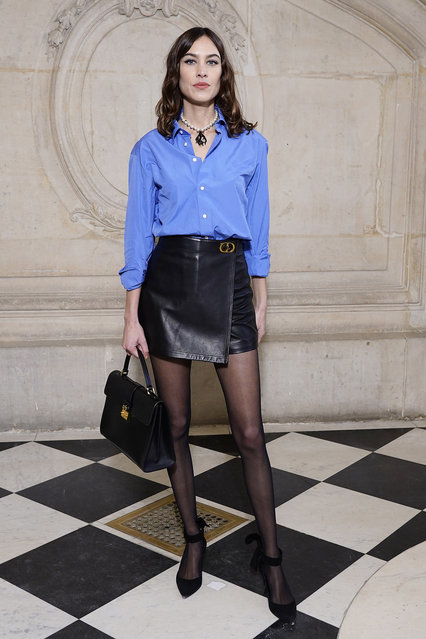 Alexa Chung attends the Dior Haute Couture Spring/Summer 2020 show as part of Paris Fashion Week on January 20, 2020 in Paris, France. (Photo by Francois Durand/Getty Images)