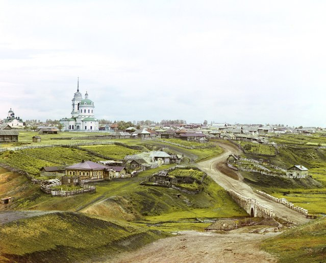 Photos by Sergey Prokudin-Gorsky. Village of Kolchedan. Russia, Perm Province, Kamyshlov uyezd (district), Kolchedanskoe village, 1912