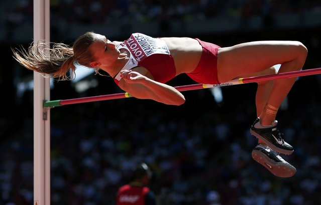 Laura Ikauniece-Admidina of Latvia competes in the high jump event of the women's heptathlon during the 15th IAAF World Championships at the National Stadium in Beijing, China August 22, 2015. (Photo by Phil Noble/Reuters)