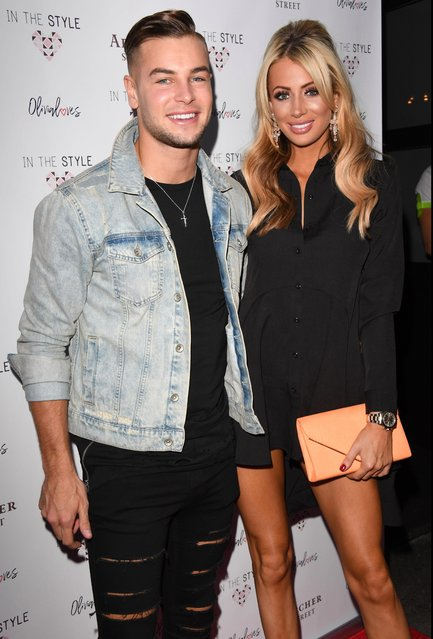 Olivia Attwood and Chris Hughes attend the In The Style Olivia Attwood launch party at Archer Street on August 16, 2017 in London, England. (Photo by Stuart C. Wilson/Getty Images)