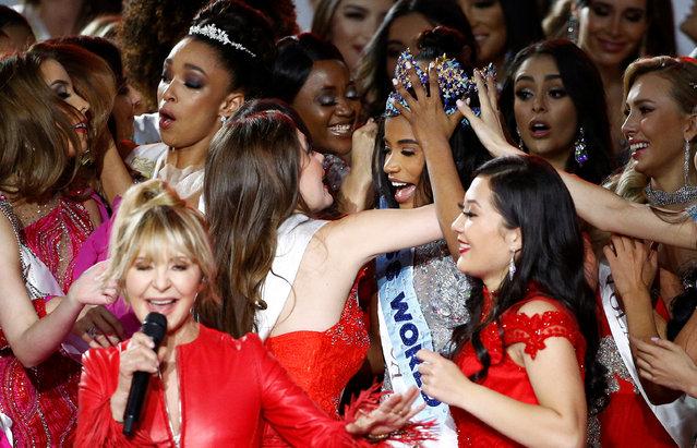 Miss World 2019 Toni Ann Singh of Jamaica celebrates winning the Miss World final in London, Britain on December 14, 2019. (Photo by Henry Nicholls/Reuters)