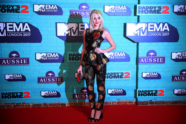 British singer Pixie Lott arrives at the 2017 MTV Europe Music Awards at Wembley Arena in London, Britain, November 12, 2017. (Photo by Hannah McKay/Reuters)