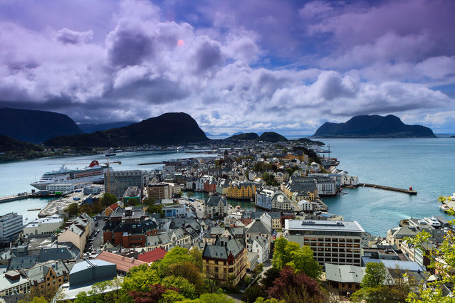 The city of Ålesund Norway, also known as the Venice of the North. (Photo by Getty Images/Rafax)