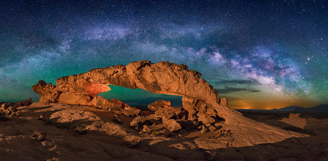 Sunset Arch in Utah. (Photo by Wayne Pinkston/Caters News)