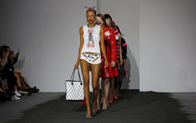 Models walk the runway at the Ashley Williams show during London Fashion Week Spring/Summer 2016/17 on September 22, 2015 in London, England. (Photo by John Phillips/Getty Images)