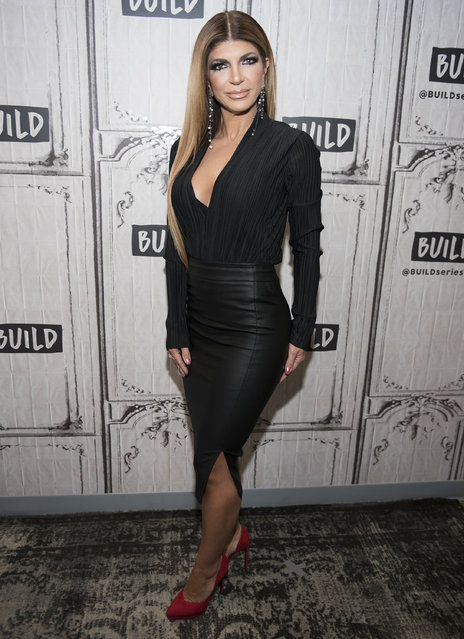 """Teresa Giudice attends """"The Morning Breath"""" at Build Studio on January 25, 2018 in New York City. (Photo by Jenny Anderson/Getty Images)"""