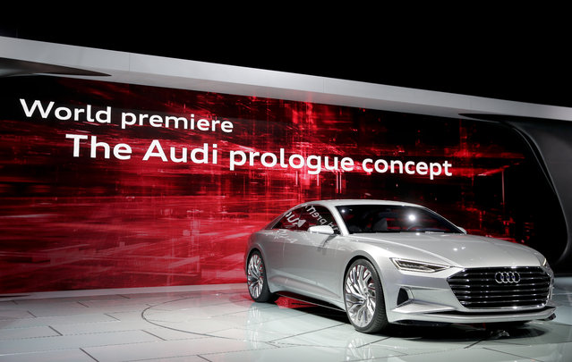The Audi prologue concept car is introduced during the Los Angeles Auto Show on Wednesday, November 19, 2014, in Los Angeles. (Photo by Chris Carlson/AP Photo)