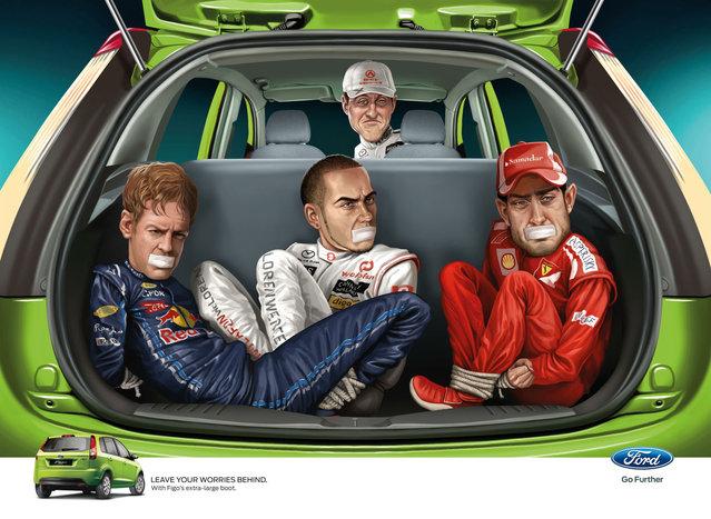 Silvio Berlusconi: Disturbing Ads for the Ford Figo by JWT India