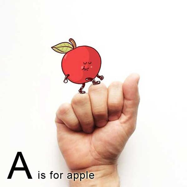 Sign Language Alphabet Doodles by Alex Solis