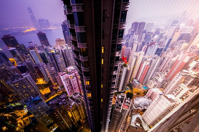 Hong Kong: 150 photographs, 56 minutes. (Photo by Daniel Marker-Moors/Caters News)