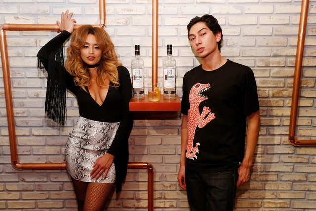 "Jillian Hervey and Lucas Goodman of Lion Babe join Ketel One Vodka to celebrate the launch of their new campaign ""You Don't Understand, It Has to be Perfect"" at NeueHouse Madison Square in New York City on Wednesday, December 7 in New York City. (Photo by Brian Ach/Getty Images for Ketel One)"