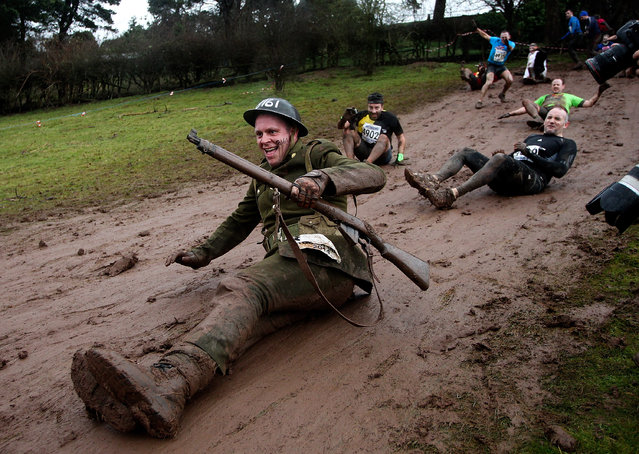 Participants make their way round the course during the Tough Guy Challenge on January 26, 2014 in Telford, England.  (Photo by Ben Hoskins/Getty Images)