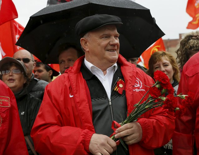 Gennady Zyuganov, leader of Russia's Communist party, attends a May Day rally in Moscow May 1, 2015. (Photo by Maxim Shemetov/Reuters)