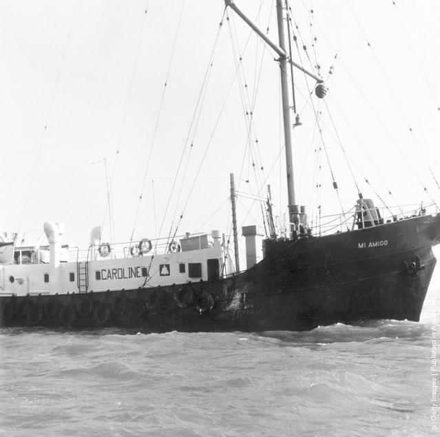 Pirate radio station Radio Caroline's ship Mi Amigo at anchor off East Anglia