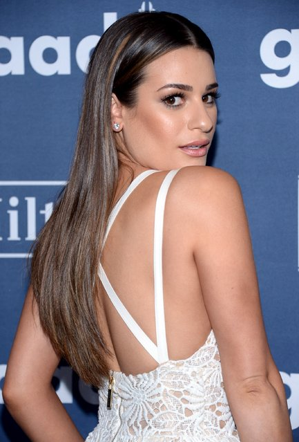Lea Michele attends the 27th annual GLAAD Media Awards in Beverly Hills, California April 2, 2016. (Photo by Phil McCarten/Reuters)