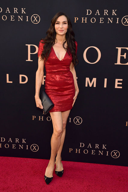 """Famke Janssen attends the premiere of 20th Century Fox's """"Dark Phoenix"""" at TCL Chinese Theatre on June 04, 2019 in Hollywood, California. (Photo by Matt Winkelmeyer/Getty Images)"""