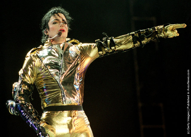 Michael Jackson performs on stage during is HIStory world tour concert at Ericsson Stadium November 10, 1996 in Auckland, New Zealand