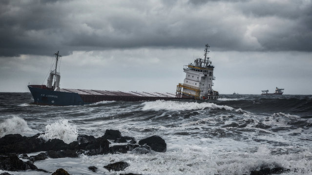 """""""Heading for Harbour"""", by Gary Richardson, which has been highly commended the Ships and Wrecks category. (Photo by Gary Richardson/PA Wire Press Association)"""