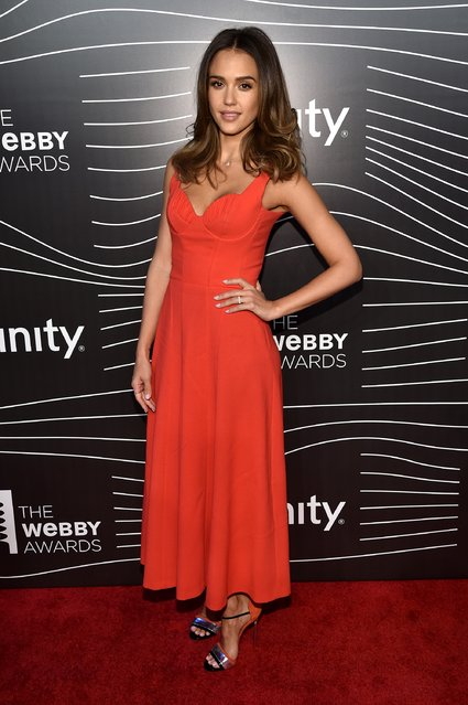 Actress Jessica Alba attends the 20th Annual Webby Awards at Cipriani Wall Street on May 16, 2016 in New York City. (Photo by Dimitrios Kambouris/Getty Images for The Webby Awards)