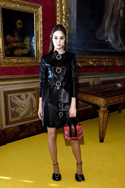 Laura Love attends the Gucci Cruise 2018 fashion show at Palazzo Pitti on May 29, 2017 in Florence, Italy. (Photo by Stefania D'Alessandro/Getty Images for Gucci)