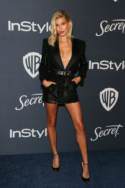 Actress Hailey Rhode Bieber attends the 21st Annual InStyle And Warner Bros. Pictures Golden Globe After-Party in Beverly Hills, California on January 5, 2020. (Photo by Jean-Baptiste Lacroix/AFP Photo)