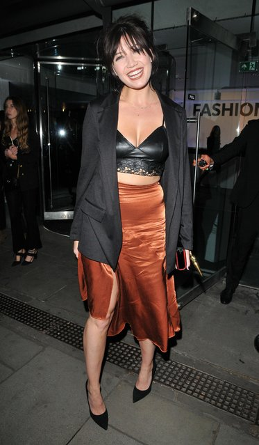 Daisy Lowe attends the New Look and the British Fashion Council LFW Launch Party during London Fashion Week September 2017 on September 14, 2017 in London, England. (Photo by Can Nguyen/Rex Features/Shutterstock)