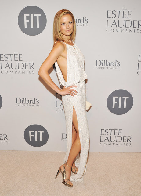 Model Carolyn Murphy attends the 2012 FIT Educational Development Fund Benefit Gala at Cipriani 42nd Street on March 15, 2012 in New York City. (Photo by Stephen Lovekin/Getty Images)