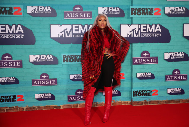 British rapper Stefflon Don arrives at the 2017 MTV Europe Music Awards at Wembley Arena in London, Britain, November 12, 2017. (Photo by Hannah McKay/Reuters)