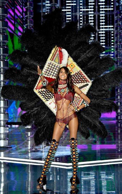 Cindy Bruna walks the runway during the 2017 Victoria's Secret Fashion Show In Shanghai at Mercedes-Benz Arena on November 20, 2017 in Shanghai, China. (Photo by Frazer Harrison/Getty Images for Victoria's Secret)