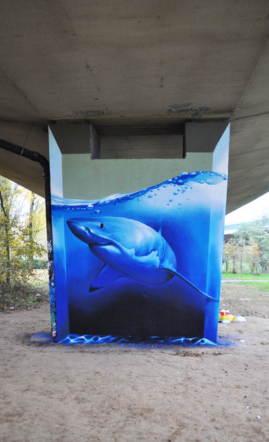 """Smates, """"Shark attack"""". Anderlecht, Belgium. (Photo by Bart Smeets/Yves Calomme)"""