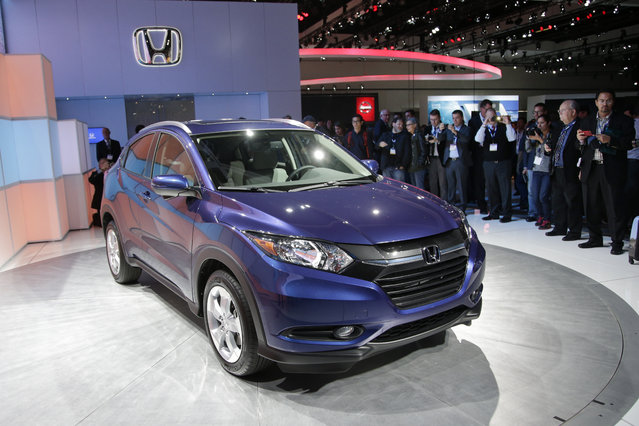 The 2016 Honda HR-V crossover is unveiled at the Los Angeles Auto Show Wednesday, November 19, 2014, in Los Angeles. (Photo by Jae C. Hong/AP Photo)