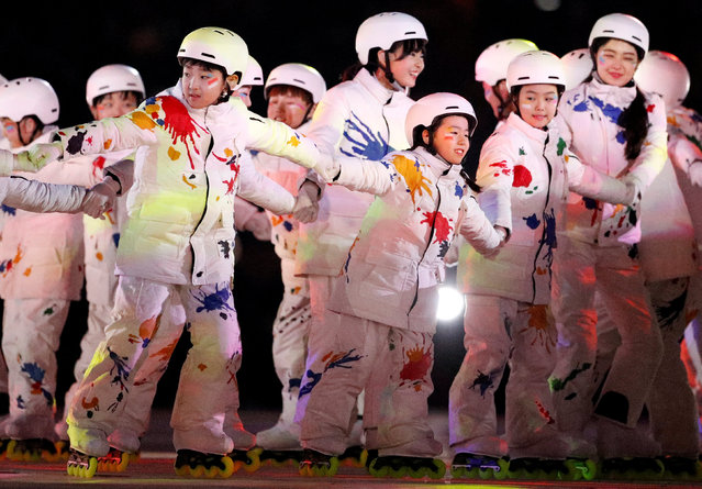 Artists perform during the closing ceremony of the PyeongChang Winter Olympic Games at the Olympic Stadium in Pyeongchang, South Korea, on February 25, 2018. (Photo by John Sibley/Reuters)