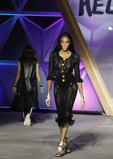 Winnie Harlow walks the runway at the Fashion For Relief 2018 event during the 71st international film festival, Cannes, southern France, Sunday, May 13, 2018. (Photo by Eric Gaillard/Reuters)