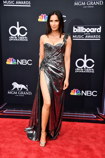 TV personality Padma Lakshmi attends the 2018 Billboard Music Awards at MGM Grand Garden Arena on May 20, 2018 in Las Vegas, Nevada. (Photo by Frazer Harrison/Getty Images)