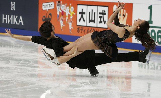 Figure Skating, ISU Grand Prix Rostelecom Cup 2016/2017, Ice Dance Short Dance, Moscow, Russia on November 4, 2016. Sofia Evdokimova and Egor Bazin of Russia compete. (Photo by Grigory Dukor/Reuters)