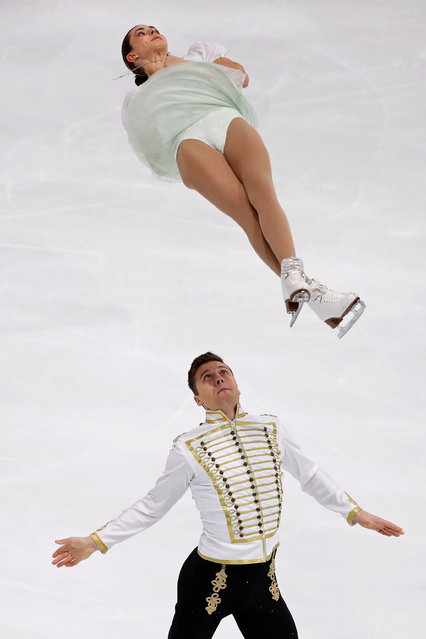 Figure Skating, ISU Grand Prix of Figure Skating Trophee de France 2016/2017, Pairs Short Program, Paris, France on November 11, 2016. Natalia Zabiiako and Alexander Enbert of Russia compete. (Photo by Charles Platiau/Reuters)