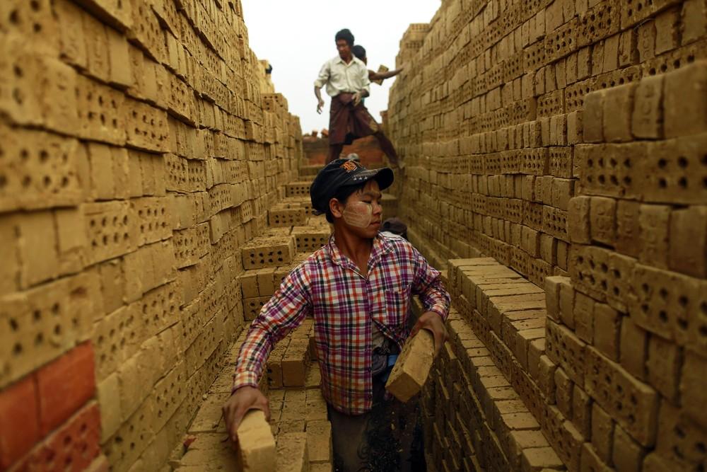 A Brick Factory in Myanmar