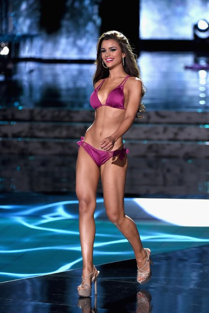 Miss Dominican Republic 2015, Clarissa Molina, competes in the swimsuit competition during the 2015 Miss Universe Pageant at The Axis at Planet Hollywood Resort & Casino on December 20, 2015 in Las Vegas, Nevada. (Photo by Ethan Miller/Getty Images)