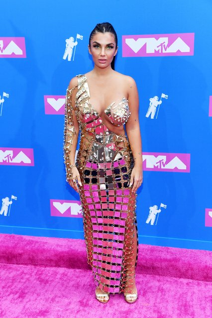 Natalie Halcro attends the 2018 MTV Video Music Awards at Radio City Music Hall on August 20, 2018 in New York City. (Photo by Nicholas Hunt/Getty Images for MTV)