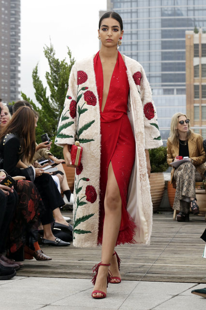 The Oscar de la Renta spring 2019 collection is modeled during Fashion Week in New York, Tuesday, September 11, 2018. (Photo by Richard Drew/AP Photo)
