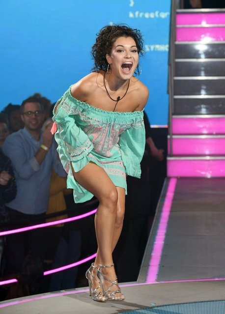 Anamelia Silva enters the Big Brother house at Elstree Studios on September 14, 2018 in Borehamwood, England. (Photo by Karwai Tang/WireImage)