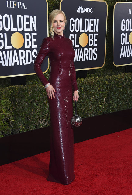 Nicole Kidman arrives at the 76th annual Golden Globe Awards at the Beverly Hilton Hotel on Sunday, January 6, 2019, in Beverly Hills, Calif. (Photo by Jordan Strauss/Invision/AP Photo)