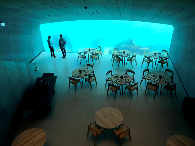 An inside view of the underwater restaurant Under in Baaly, Norway March 19, 2019. (Photo by Lefteris Karagiannopoulos/Reuters)