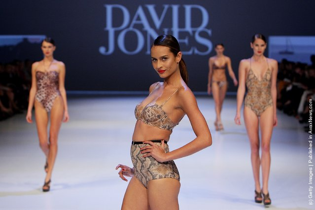 A model showcases designs by Isola by Megan Gale on the catwalk at the David Jones Spring/Summer 2011