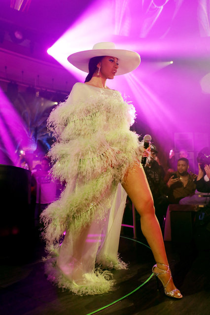 "Cardi B performs at the ""Night Two At Palms Casino Resort's KAOS Dayclub & Nightclub With Cardi B, G-Eazy, J Balvin For Grand Opening Weekend"" event on April 6, 2019 in Las Vegas, Nevada. (Photo by Roger Kisby/Getty Images for Palms Casino Resort)"
