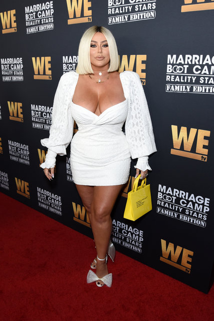 """Aubrey O'Day attends WE tv Celebrates the 100th Episode of the """"Marriage Boot Camp"""" reality stars franchise and the premiere of """"Marriage Boot Camp Family Edition"""" at SkyBar at the Mondrian Los Angeles on October 10, 2019 in West Hollywood, California. (Photo by Presley Ann/Getty Images for WE tv)"""