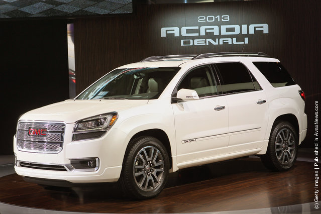 GMC introduces the 2013 Acadia during the media preview of the Chicago Auto Show at McCormick Place