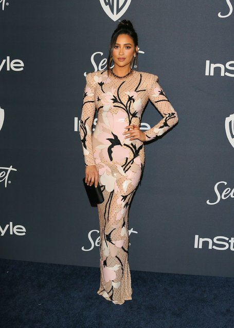 Actress Shay Mitchell attends the 21st Annual InStyle And Warner Bros. Pictures Golden Globe After-Party in Beverly Hills, California on January 5, 2020. (Photo by Jean-Baptiste Lacroix/AFP Photo)