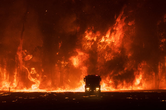 Documentary shortlist. A three-year drought, combined with staff cuts and political debate over the effectiveness of hazard-reduction-burn has led to a series of catastrophic bushfires in Australia. (Photo by Nicholas Moir/Sony World Photography Awards)
